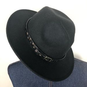 BLACK HAT w Stars & Buckle